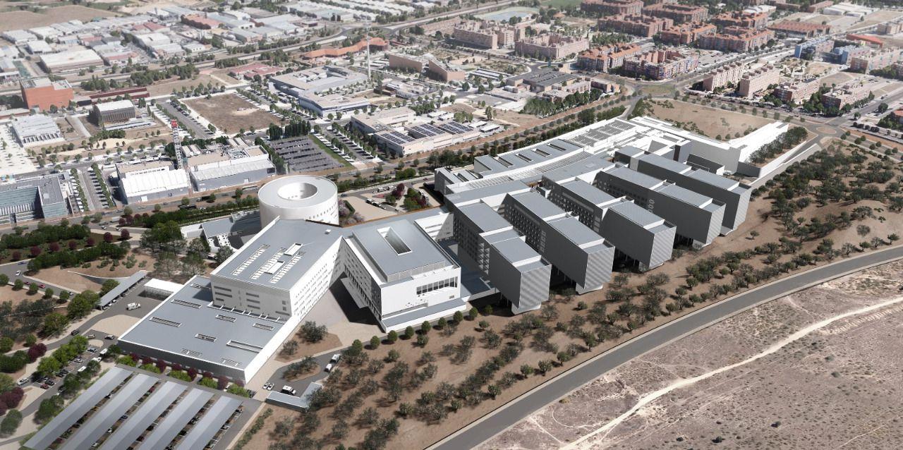 Plano aéreo del hospital de Toledo, obra de CMC